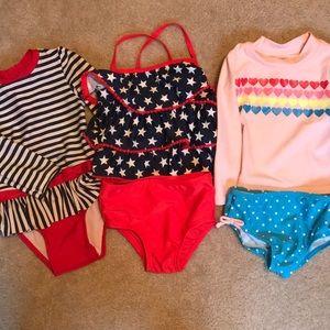 18 month baby girls Swimsuit Bundle